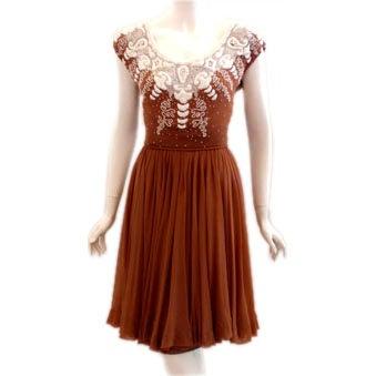 Helen Rose Beaded Chiffon Cocktail Dress, Circa 1950