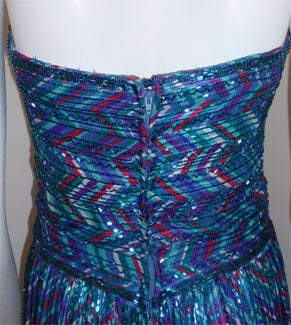 Bob Mackie Strapless Beaded Gown, Circa 1980 For Sale 3