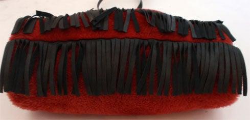 Yves Saint Laurent Red Faux Fur Muff/Handbag, Circa 1980 at 1stdibs