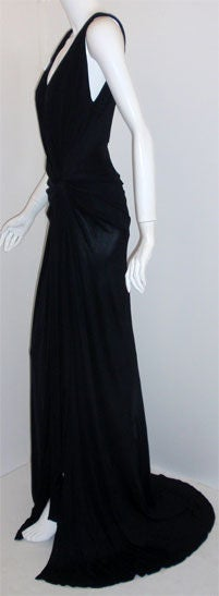 Gianni Versace Couture Long Black Evening Gown, Circa 2000 4