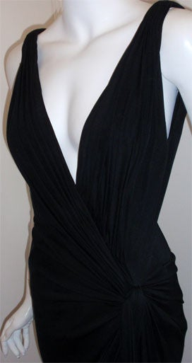 Gianni Versace Couture Long Black Evening Gown, Circa 2000 6