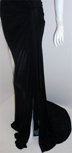 Gianni Versace Couture Long Black Evening Gown, Circa 2000 8