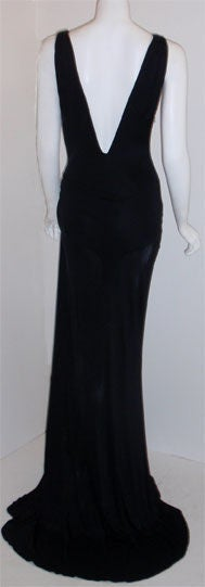 Gianni Versace Couture Long Black Evening Gown, Circa 2000 5