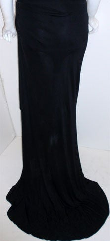 Gianni Versace Couture Long Black Evening Gown, Circa 2000 9