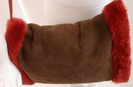 Yves Saint Laurent Brown Suede/Faux Fur Muff/Handbag, Circa 1980 ...