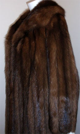Saks fifth avenue by revillon sable fur coat at 1stdibs