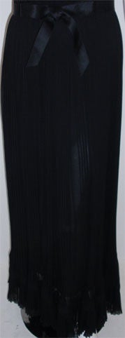 Christian Dior Haute Couture Pleated Chiffon Gown, Betsy Bloomingdale 1974 For Sale 3