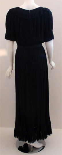 Women's Christian Dior Haute Couture Pleated Chiffon Gown, Betsy Bloomingdale 1974 For Sale