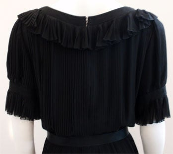 Christian Dior Haute Couture Pleated Chiffon Gown, Betsy Bloomingdale 1974 For Sale 2