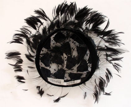 Christian Dior Hat with Velvet and Feathers 6