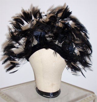 Christian Dior Hat with Velvet and Feathers 4