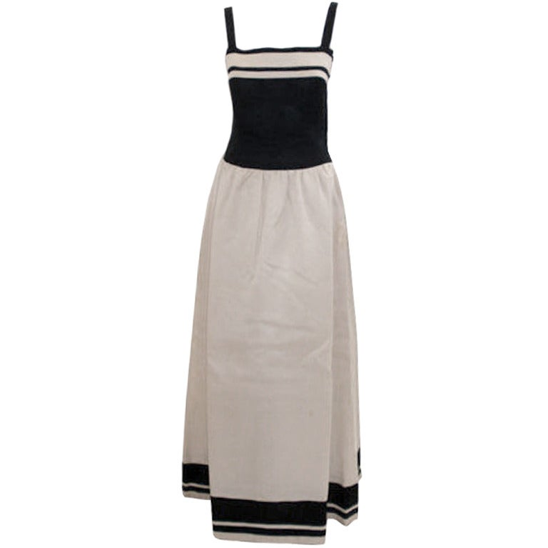 Christian dior haute couture black and white dress circa for Dior couture dress price