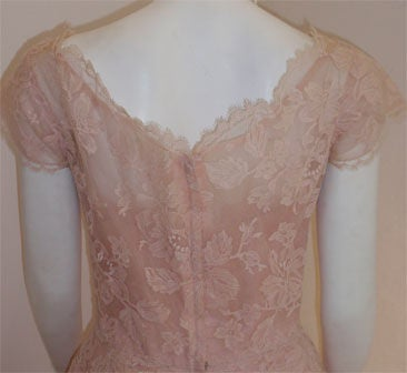 Ceil Chapman Light Pink Lace Cocktail Dress, Circa 1950 7