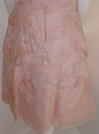 Ceil Chapman Light Pink Lace Cocktail Dress, Circa 1950 9