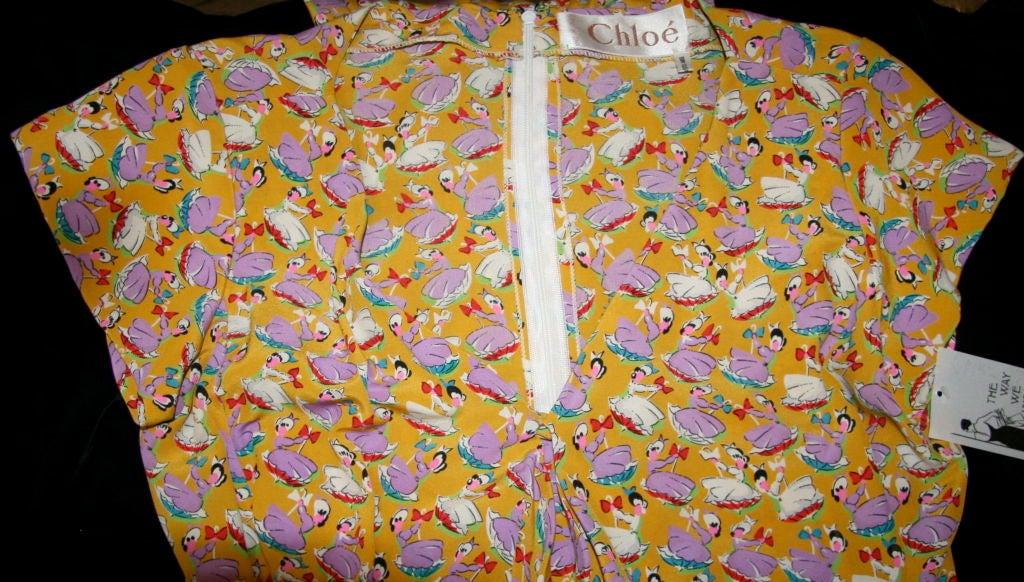 Chloe Silk Sun Dress with Front Scarf Tie 2