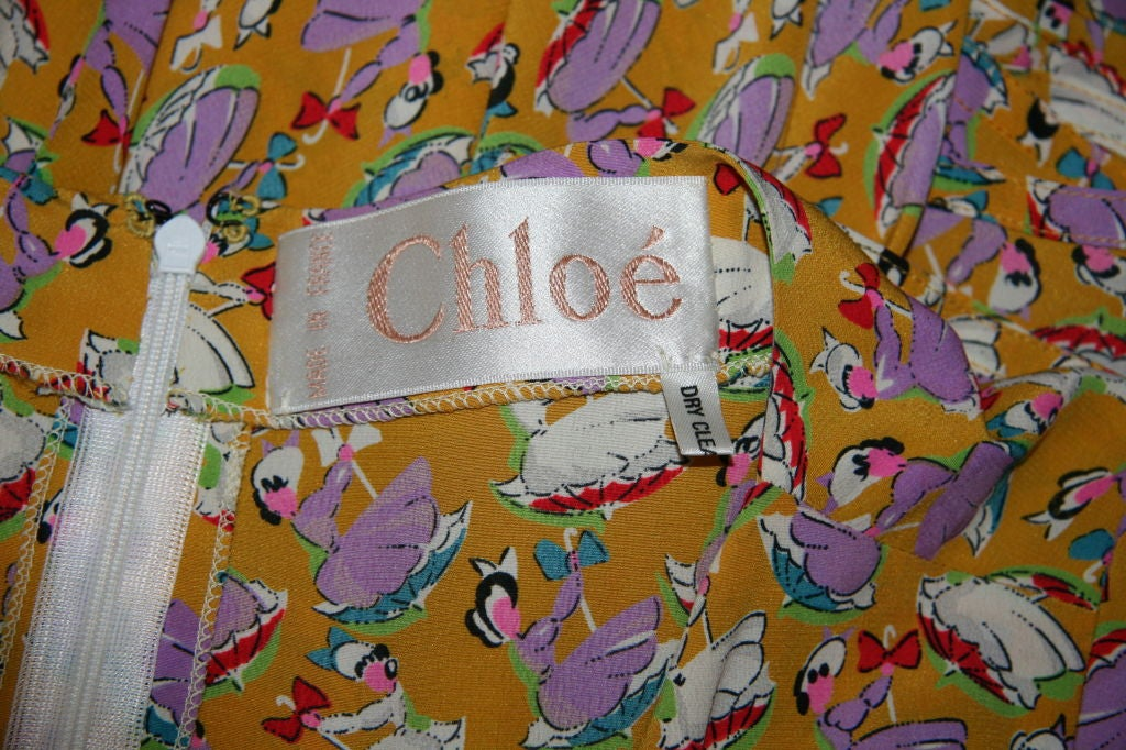 Chloe Silk Sun Dress with Front Scarf Tie 7