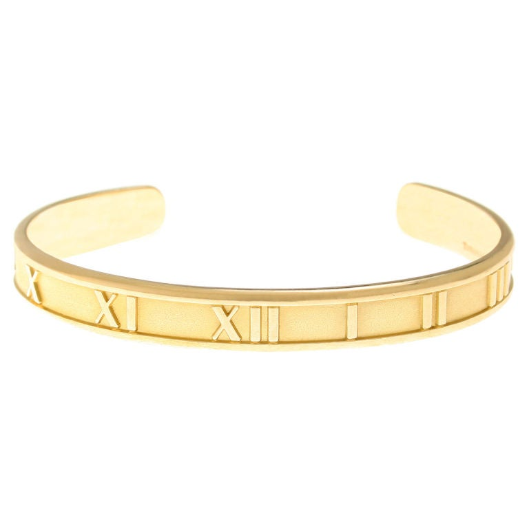 Tiffany And Co Atlas Gold Cuff Bracelet At 1stdibs