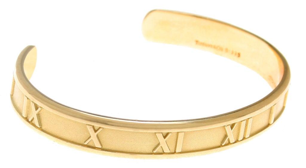 Jewelry Bracelets Cuff Bracelets Tiffany Co Atlas Gold Cuff Bracelet Id J 8484 Tiffany Bangle Bracelets