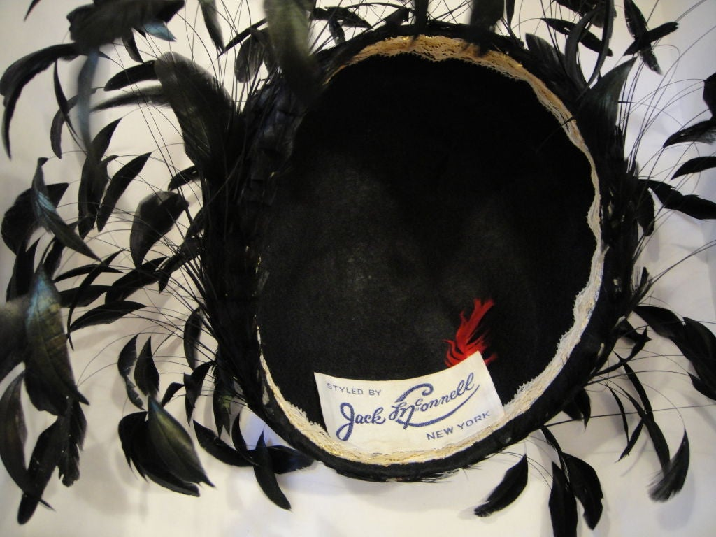 1960s Jack McConnell Floating Feather Hat 3