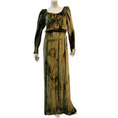 1980s Stavropoulos Panne Velvet Gown