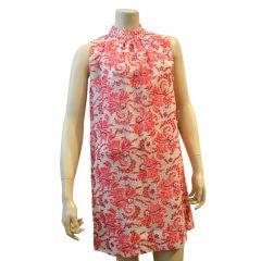 1960s Beaded Mod Shift Dress