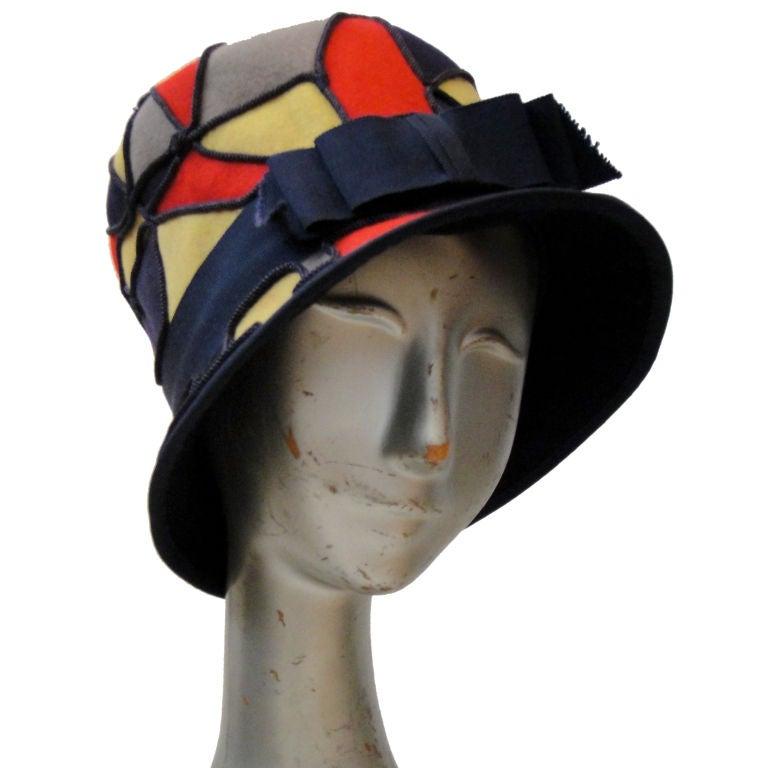 """Patchwork Felt """"Mosaic"""" Bucket Hat"""