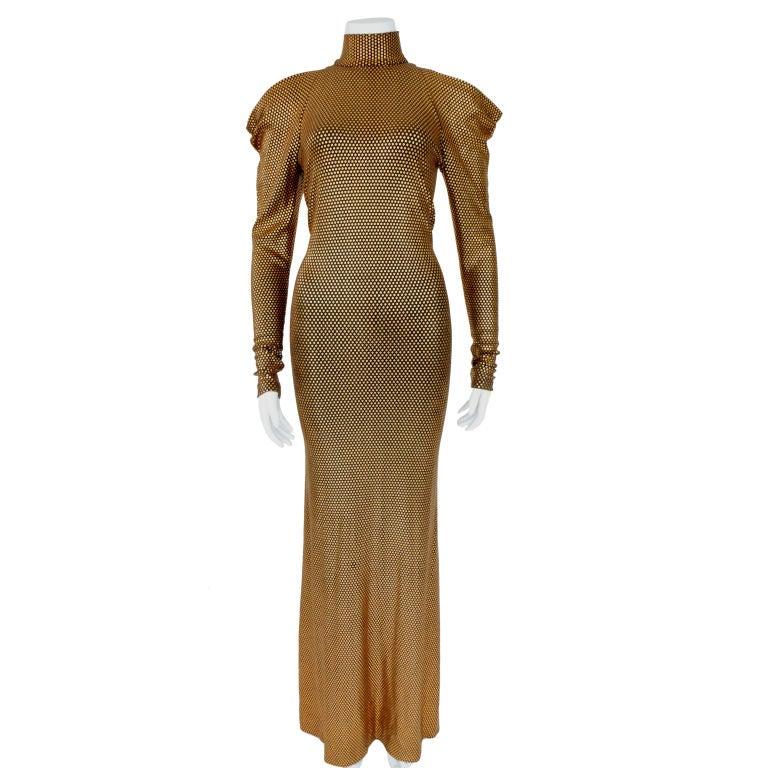 Marc Bouwer Copper Lycra Dress Designed For Whitney
