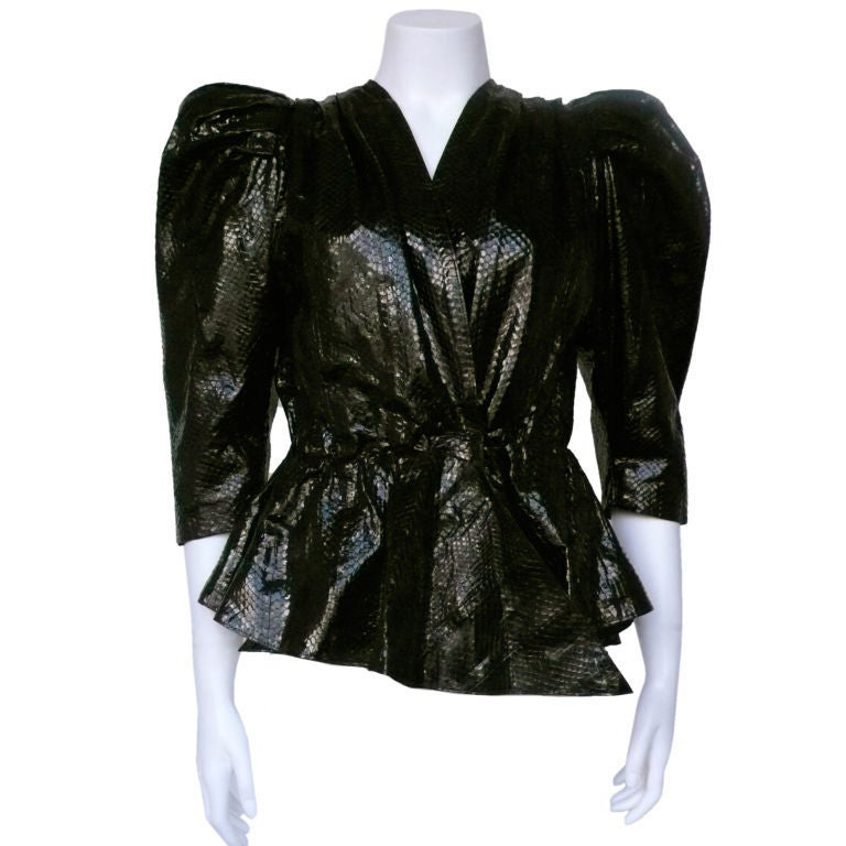 Black Python Jacket At 1stdibs