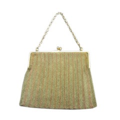Bulgari rare 1920's 14kt two tone gold mesh purse