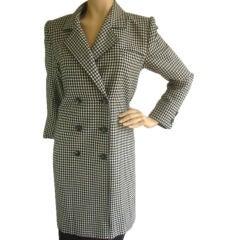 YVES SAINT LAURENT Vintage Houndstooth Coat Sz 4