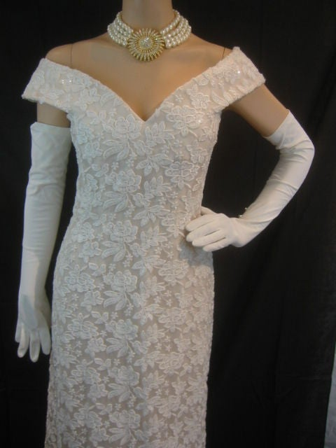 Arnold Scaasi Amazing Vintage Wedding Gown Sz 8 At 1stdibs
