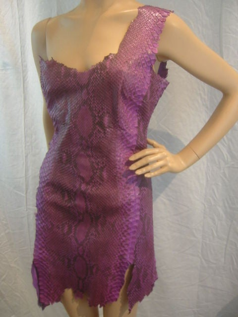 Jean-Claude Jitrois Purple Python Disco Era Dress/Jacket ...