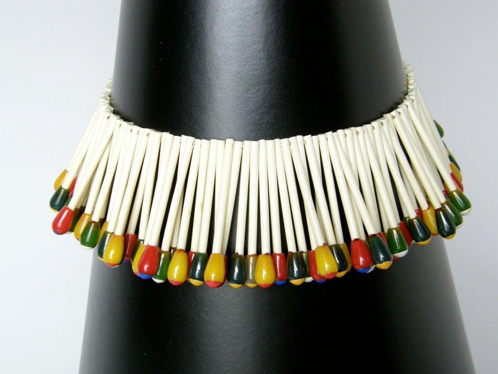 Women's Martha Sleeper Matchsticks Necklace and Bracelet Set For Sale