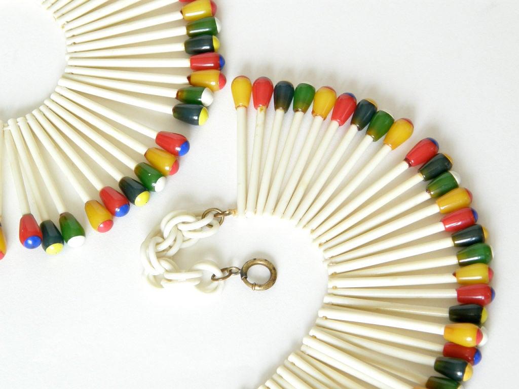 Martha Sleeper Matchsticks Necklace and Bracelet Set For Sale 2