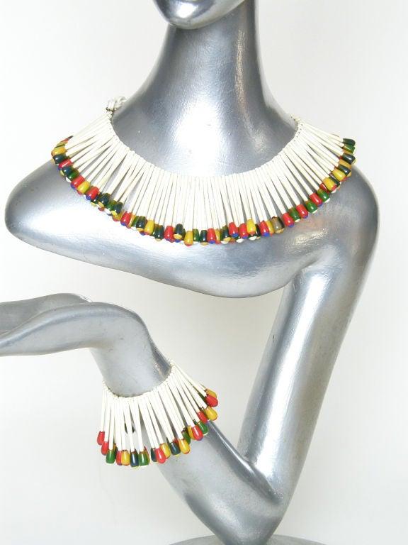 Martha Sleeper Matchsticks Necklace and Bracelet Set For Sale 3
