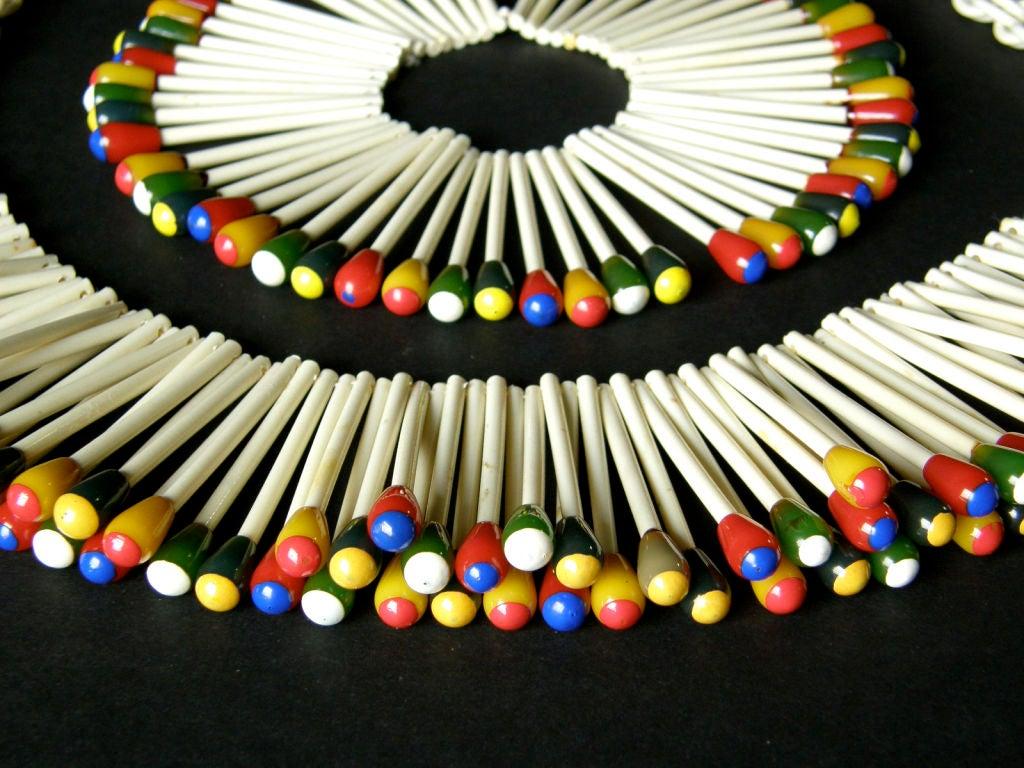 Martha Sleeper Matchsticks Necklace and Bracelet Set For Sale 5