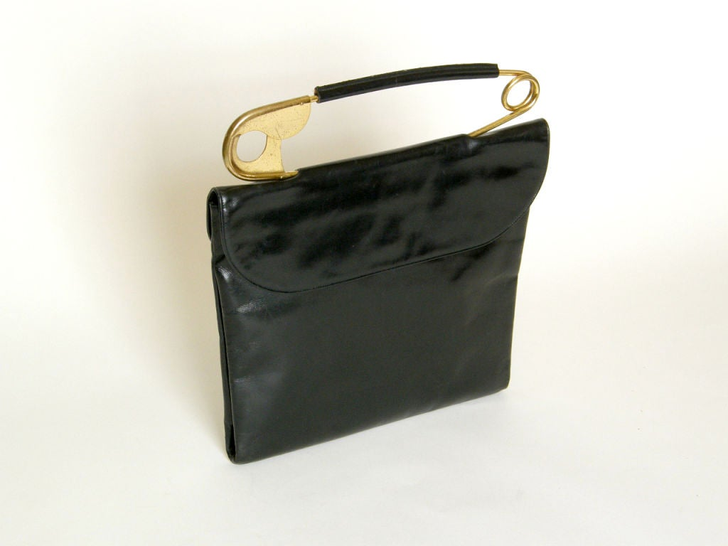 Koret Leather Handbag with Safety Pin Handle 6