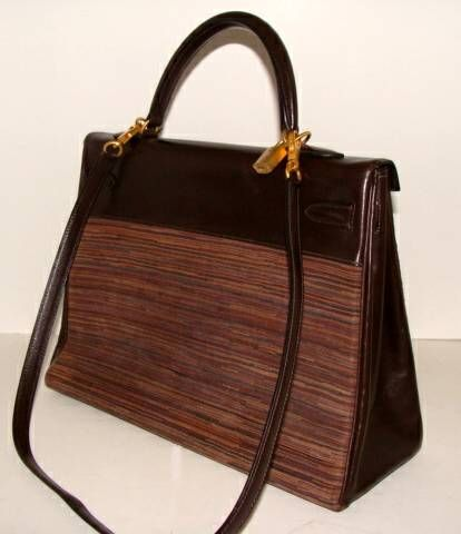 Chocolate Brown Kelly Vibrato by Hermes at 1stdibs