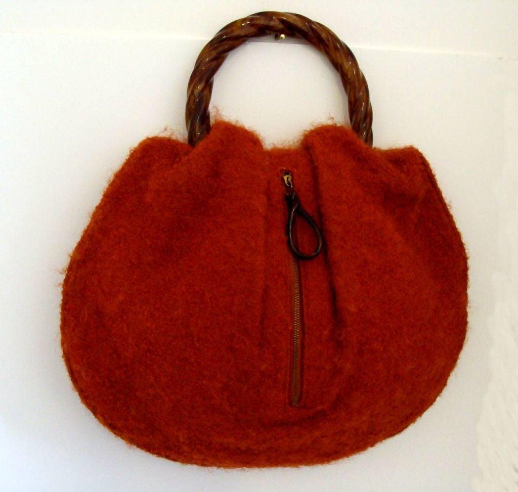 Mohair And Bakelite Handbag By Morris Moskowitz At 1stdibs
