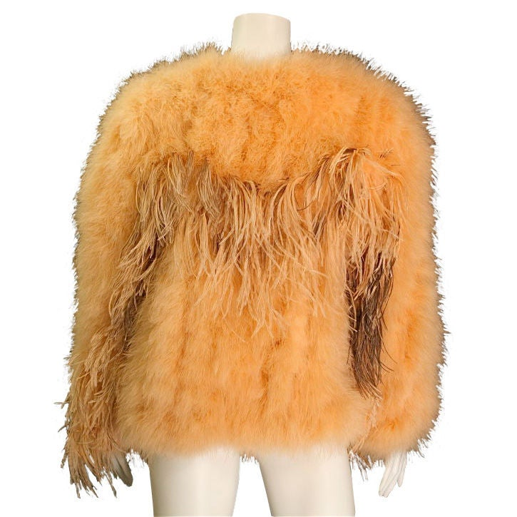 Ostrich Feather Jacket at 1stdibs