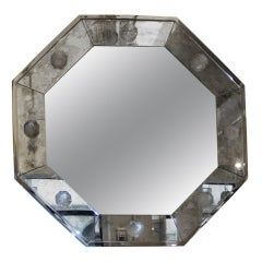 Octagonal Oxydized Mirror by André Hayat