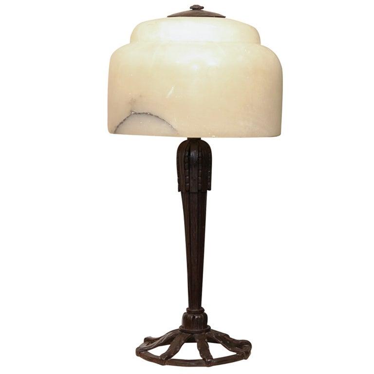 Art Deco Table Lamp by Raymond Subes
