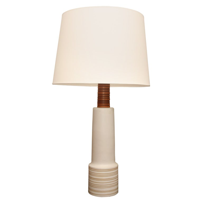extra tall ceramic table lamp by gordon martz at 1stdibs