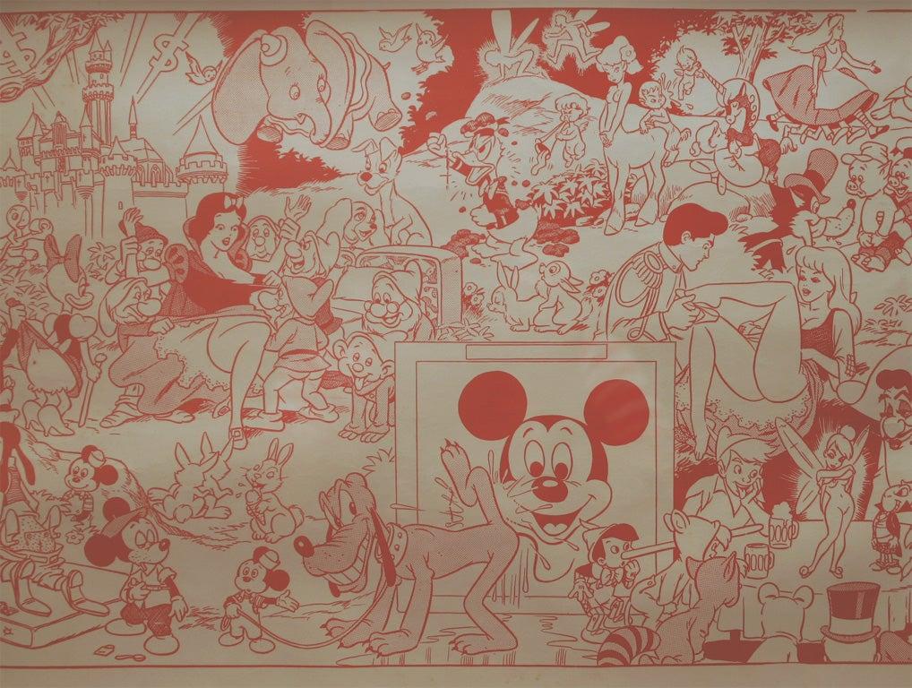 Vintage Quot Dirty Disney Quot Silkscreen At 1stdibs