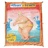 "Vintage Johnny Meah Sideshow Banner ""A Tidal Wave Of Fun"""