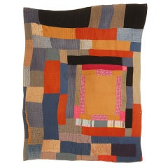 African American Abstract Quilt.  Attributed to Gees Bend, AL
