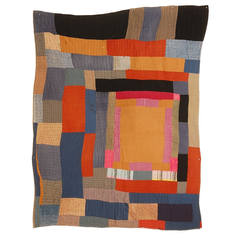 African American Abstract Quilt, Attributed to Gees Bend, AL For Sale