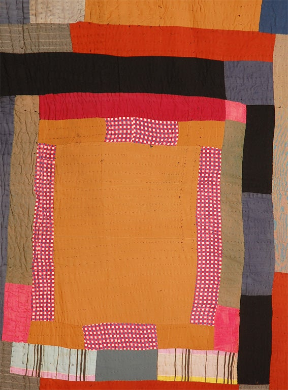 African American Abstract Quilt, Attributed to Gees Bend, AL 3