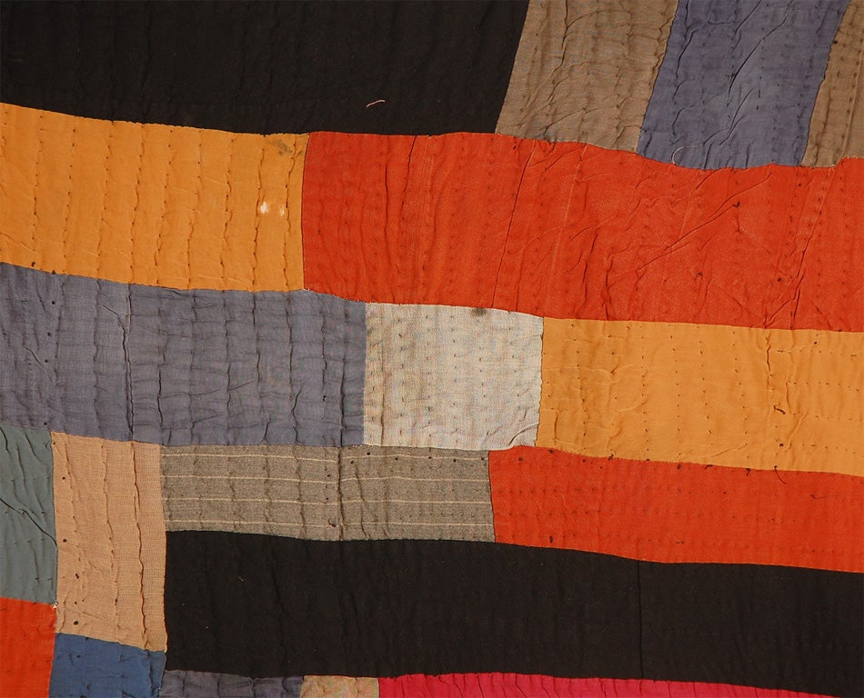 African American Abstract Quilt, Attributed to Gees Bend, AL 4