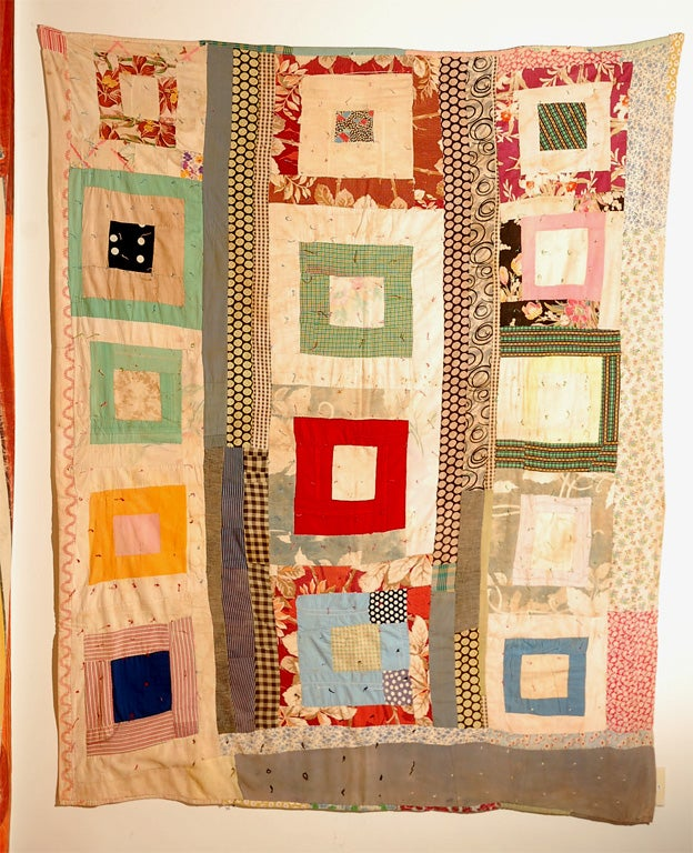Gees Bend African American Concentric Squares Quilt 2